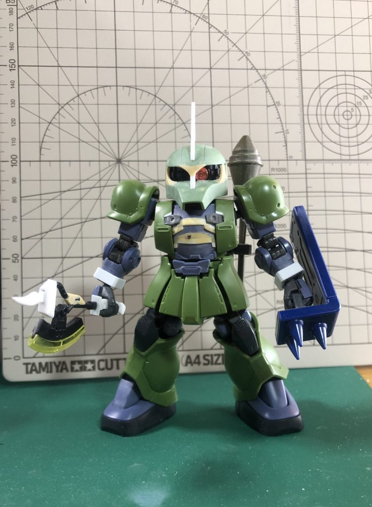 SD ランバ・ラル専用ザクⅠ 制作工程4