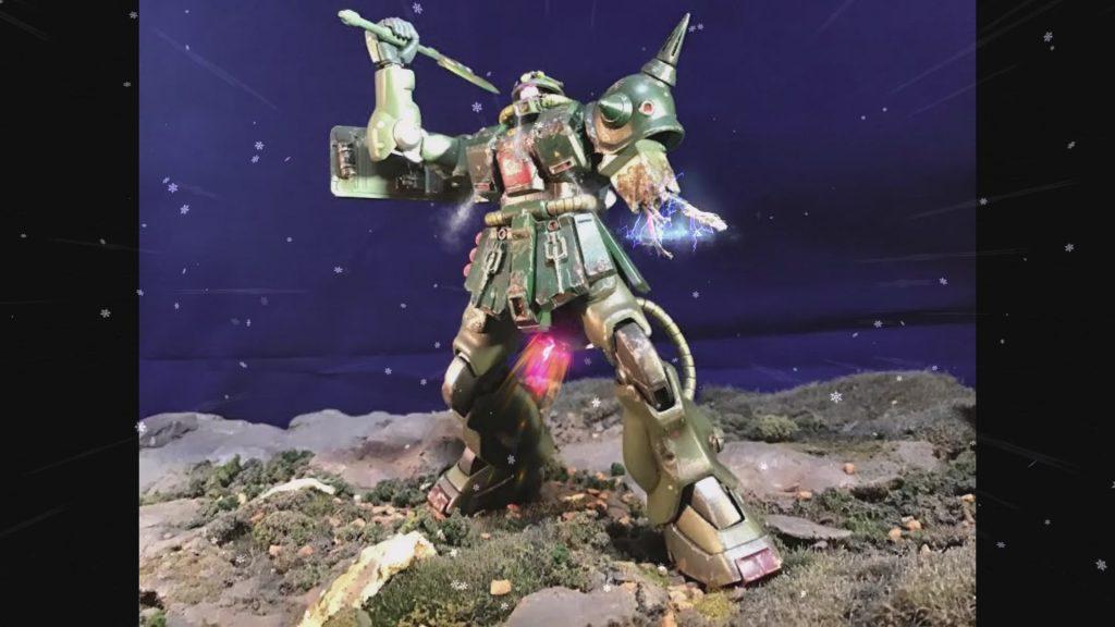 0080 ポケ戦 ザクⅡ FZ  バーニーザクロールアウトから最後闘いまで(T_T)