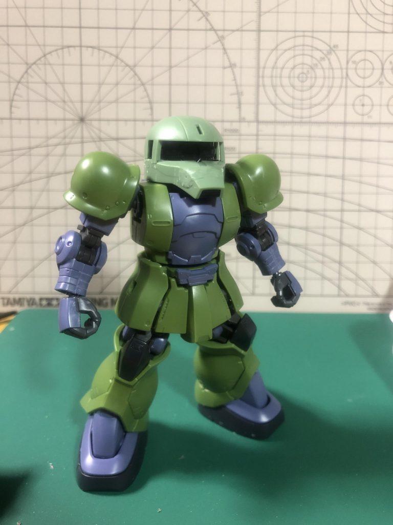 SD ランバ・ラル専用ザクⅠ 制作工程2