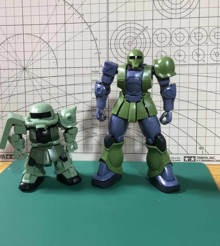 SD ランバ・ラル専用ザクⅠ 制作工程1