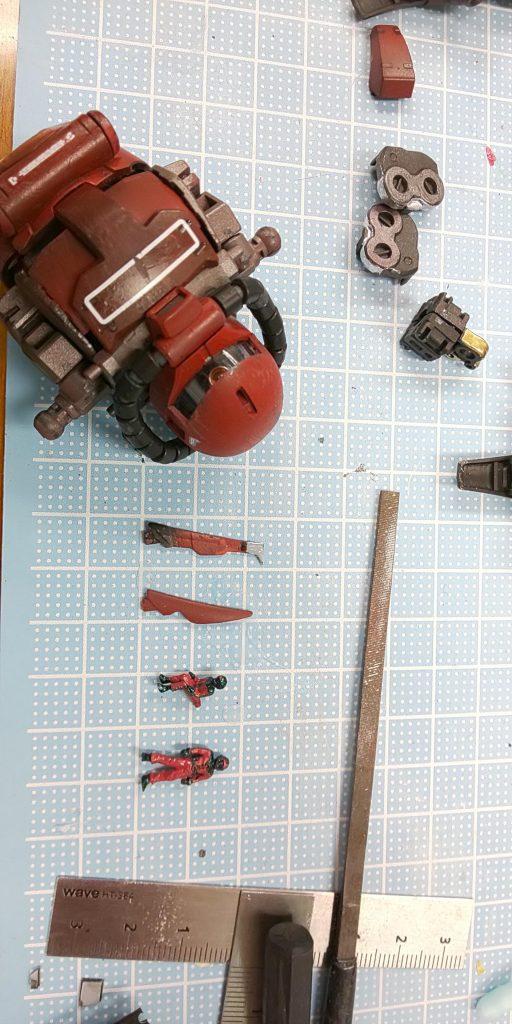 赤い稲妻⚡️ジョニー・ライデン!! 制作工程7