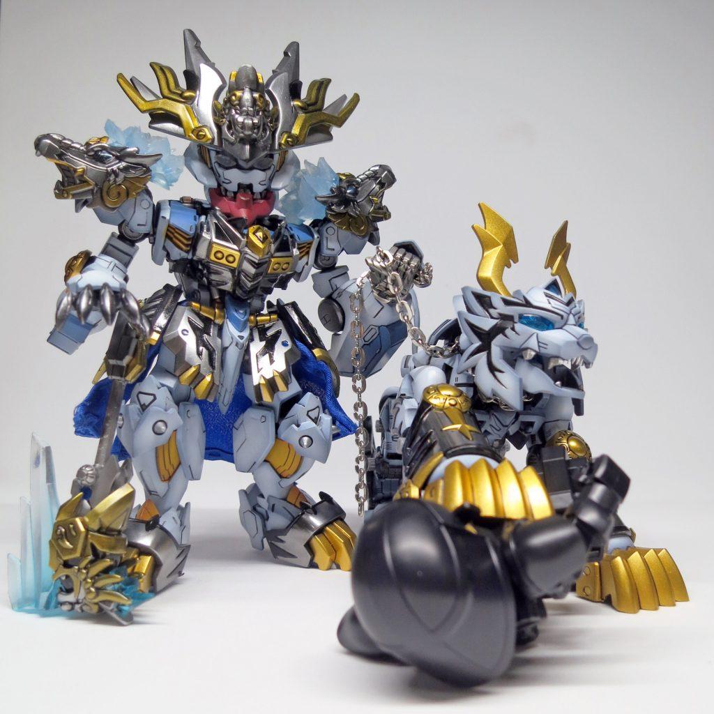 SDxHG Barbatos ice tiger armour アピールショット1