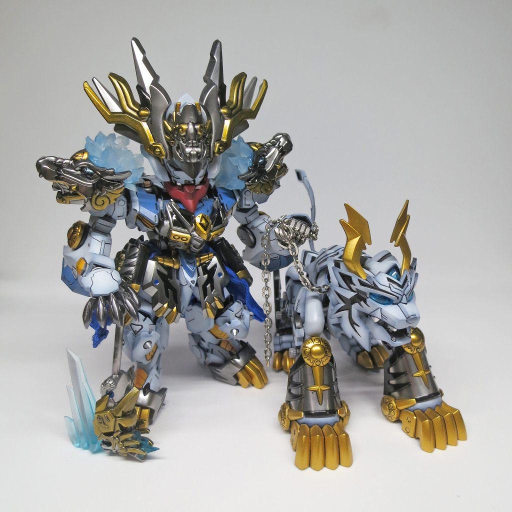 SDxHG Barbatos ice tiger armour アピールショット2
