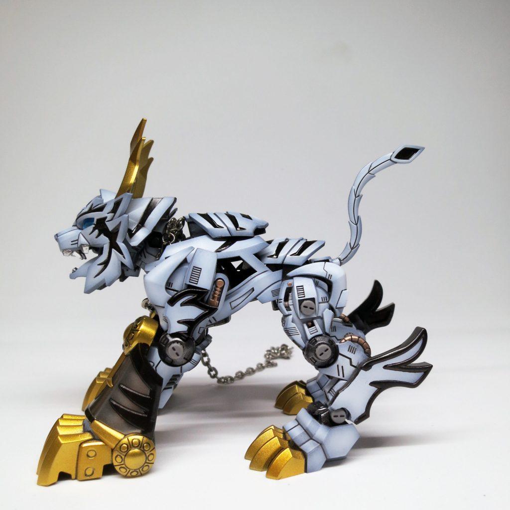 SDxHG Barbatos ice tiger armour 制作工程1