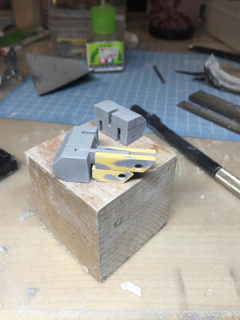 MG アヴァランチエクシアダッシュ (ミキシングビルド MGガンダムエクシア、1/100 アヴァランチエクシア使用) 制作工程2