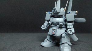 """SD  MS-06E-3  ザク強行偵察型""""フリッパー""""(クロスシルエット改造"""