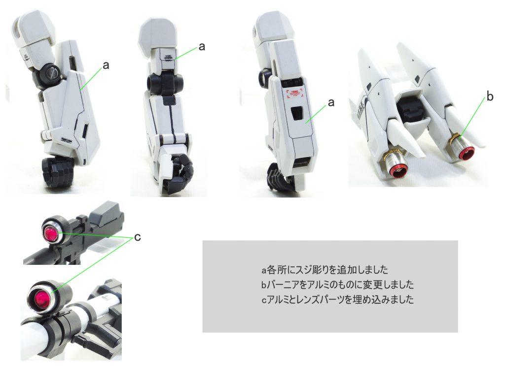 MG ガンダムGP03S ステイメン 制作工程2