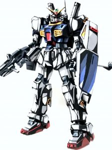 1/144 ガンダム Mk-Ⅱ イラスト風模型