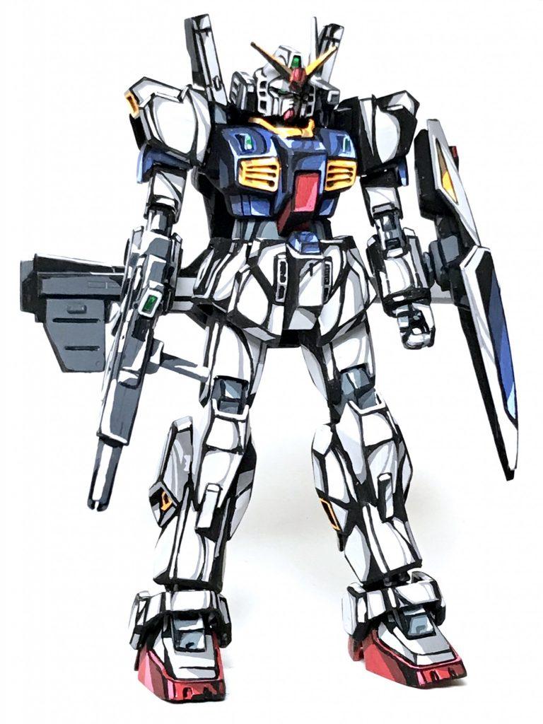 1/144 ガンダム Mk-Ⅱ イラスト風模型 アピールショット1