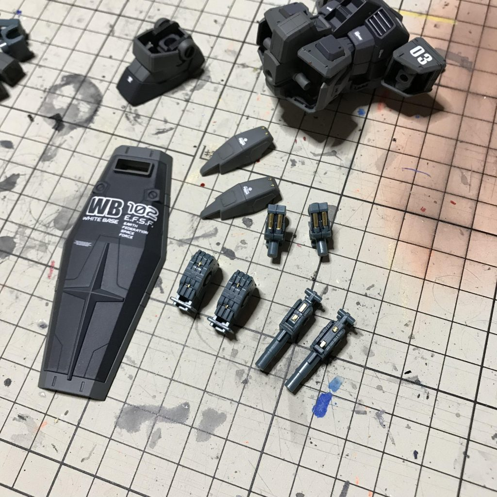 1/144 G3 ガンダム (ガンプラスターターセット2) 制作工程3