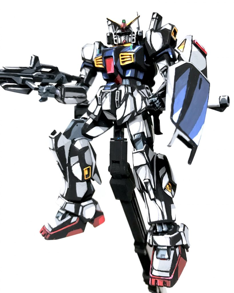 1/144 ガンダム Mk-Ⅱ イラスト風模型 アピールショット2