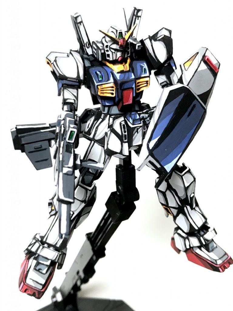1/144 ガンダム Mk-Ⅱ イラスト風模型 アピールショット3