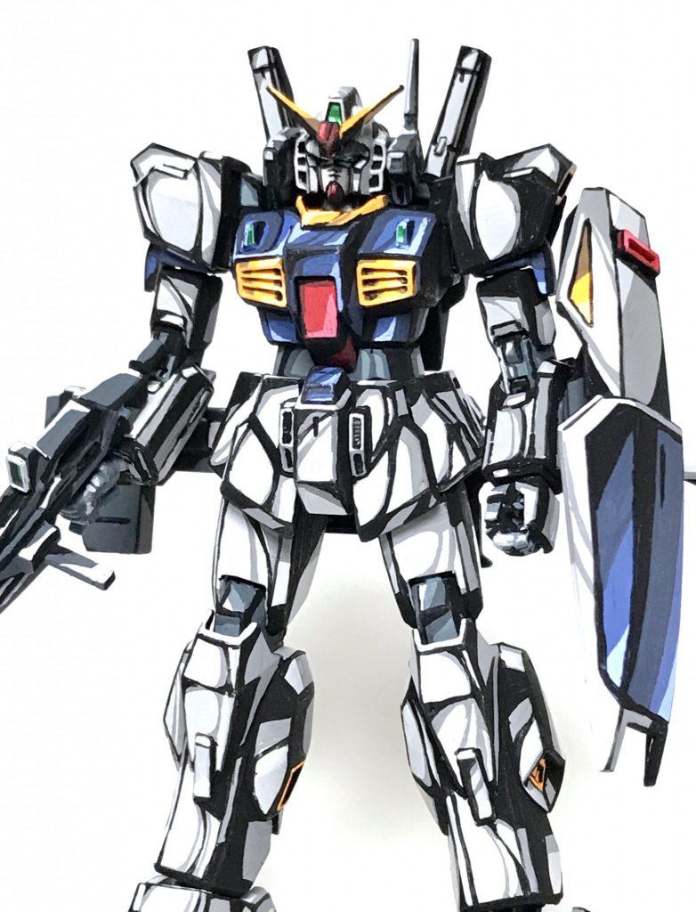 1/144 ガンダム Mk-Ⅱ イラスト風模型 アピールショット4