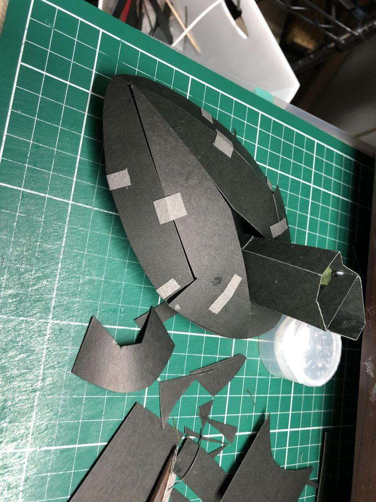 フルスクラッチ・ダブデ陸戦艇 (紙) 制作工程3