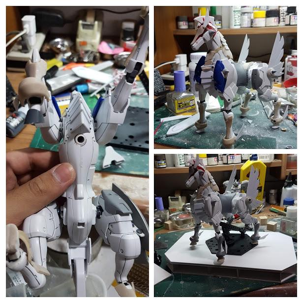 聖騎士ガンダム(+聖戦馬) 制作工程3