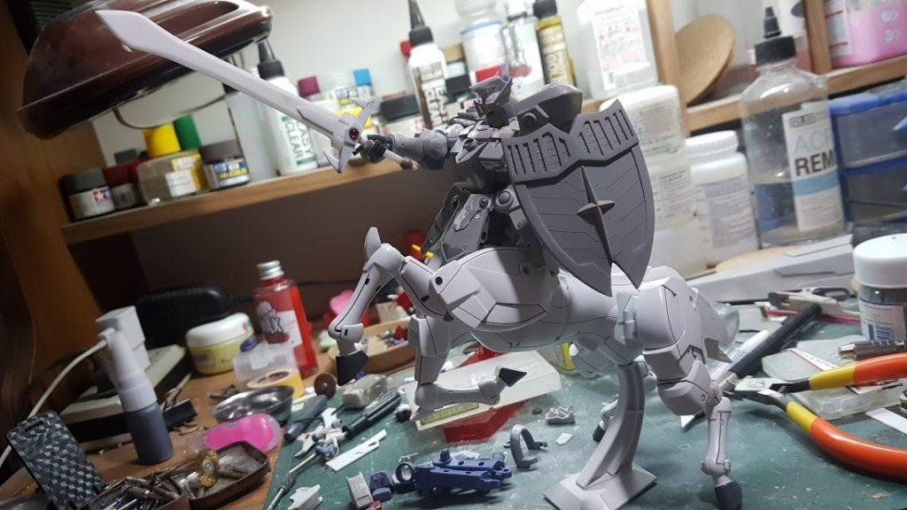 聖騎士ガンダム(+聖戦馬) 制作工程1