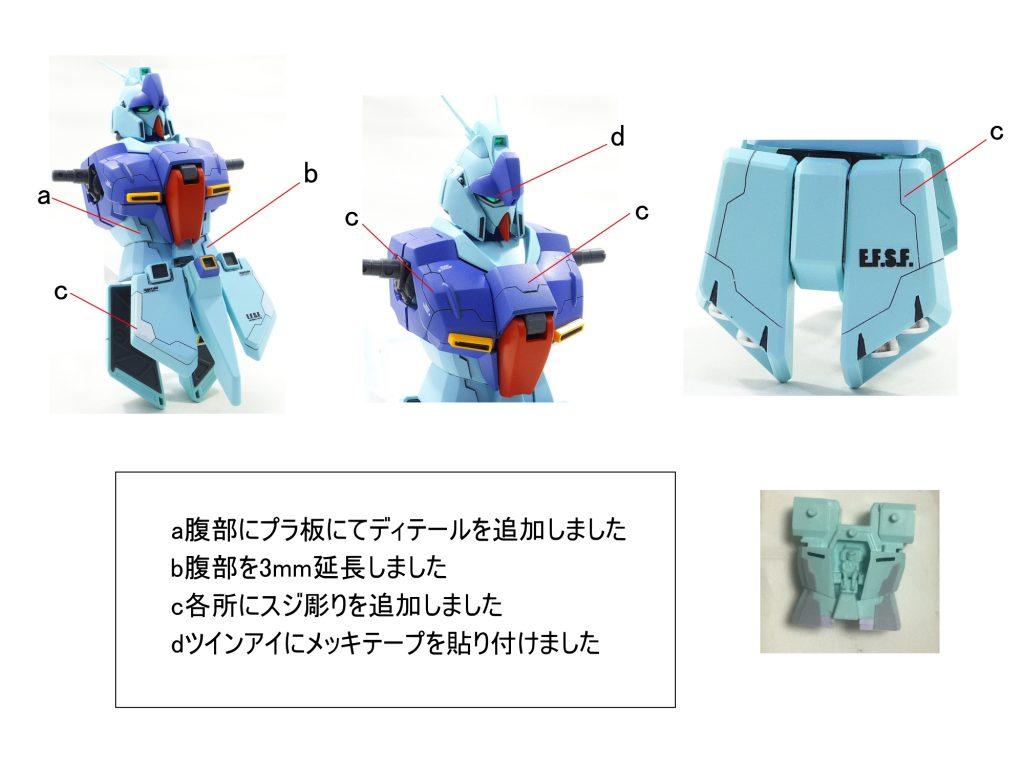 MG リガズィ アムロ機 制作工程1