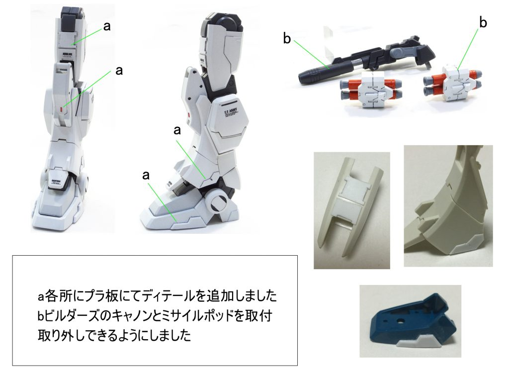 MG ガンダム Ez-8 制作工程3