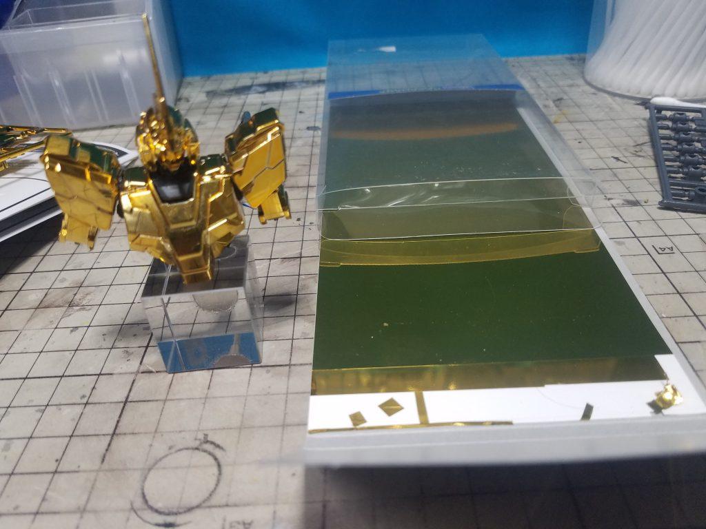 ユニコーン3号機フェネクス ユニコーンモードゴールドコーティング 制作工程3