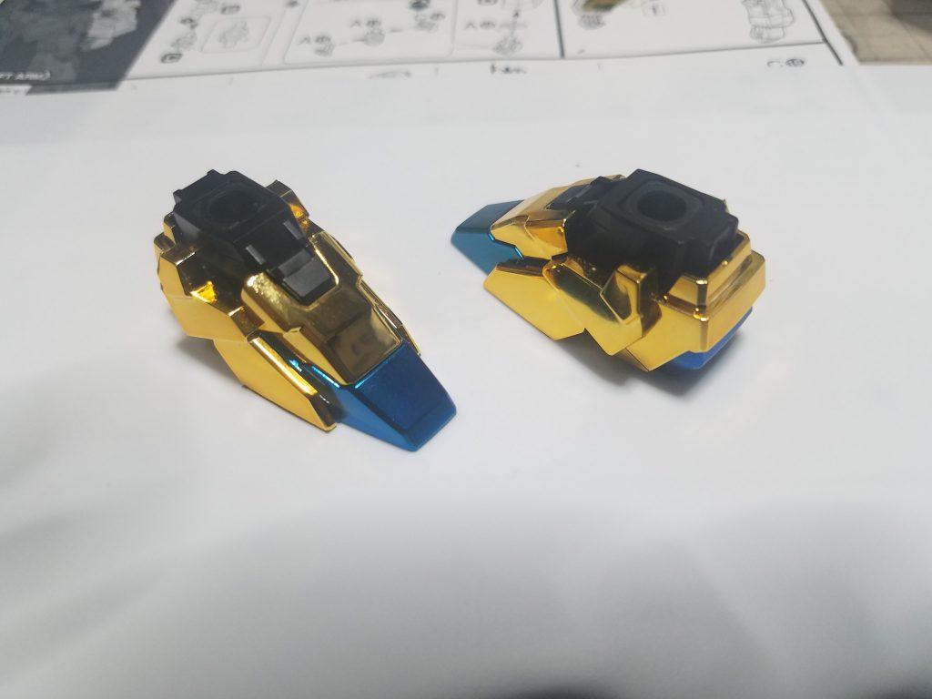 ユニコーン3号機フェネクス ユニコーンモードゴールドコーティング 制作工程1