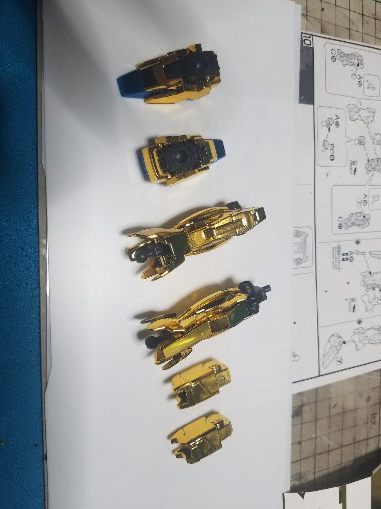 ユニコーン3号機フェネクス ユニコーンモードゴールドコーティング 制作工程2