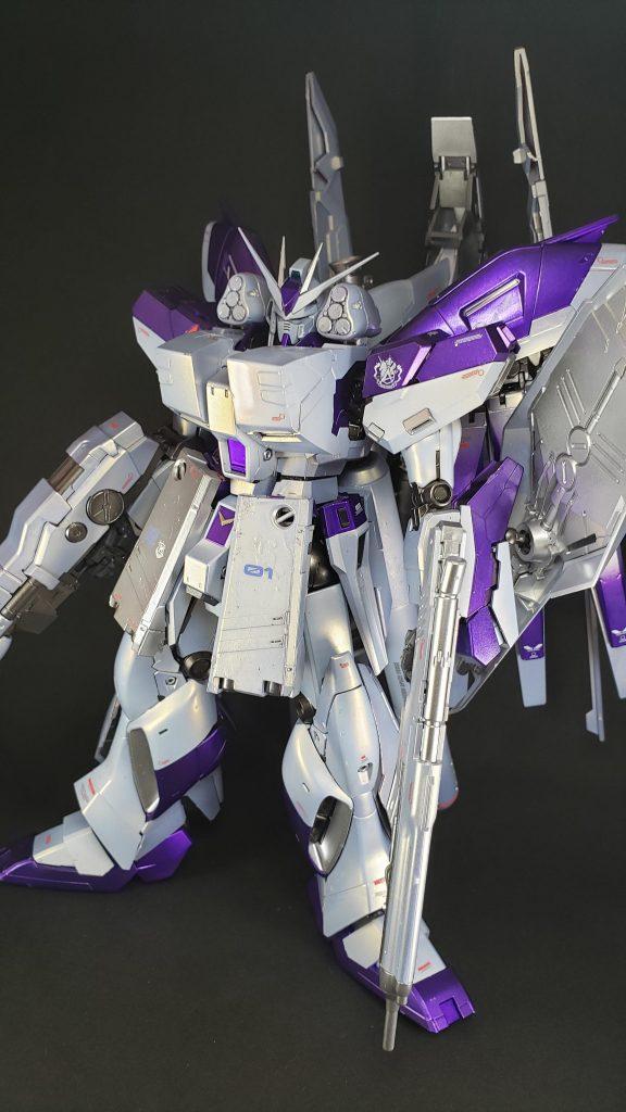 MG Hi-νガンダム(&HWS装備) 制作工程1