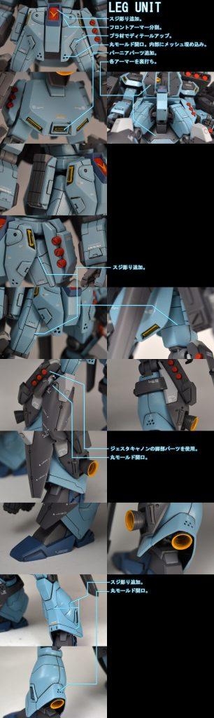 HGUCスターク・ジェガン改造 ストライク・スターク・ジェガン 制作工程4