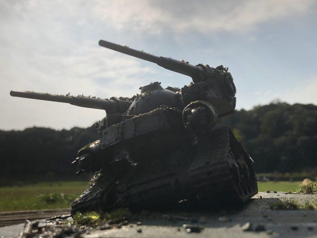 86式対MS特殊戦車 ジオラマ -postwar- アピールショット8