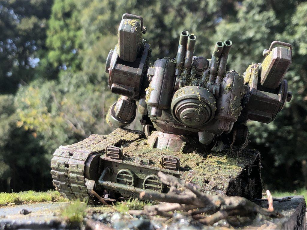 86式対MS特殊戦車 ジオラマ -postwar- アピールショット2