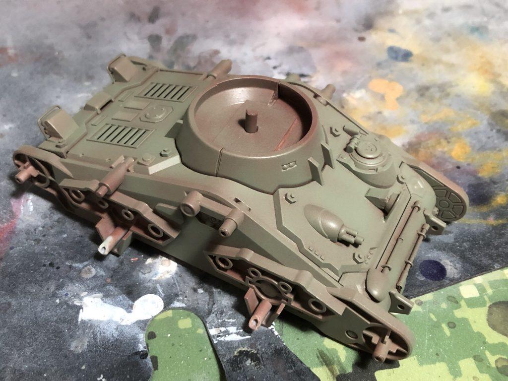 86式対MS特殊戦車 ジオラマ -postwar- 制作工程5