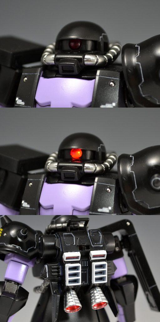 HGUC 黒い三連星ザクⅡ 制作工程1
