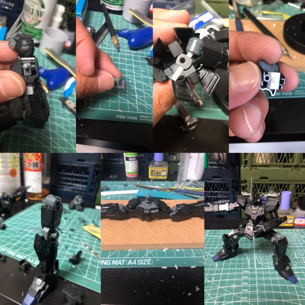 "RX-0 3号機  ""フェネクス""/君が鳥になるなら 制作工程2"