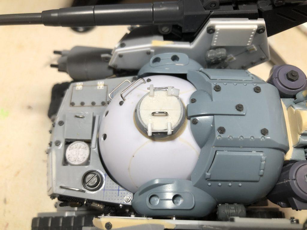 86式対MS特殊戦車 ジオラマ -postwar- 制作工程2