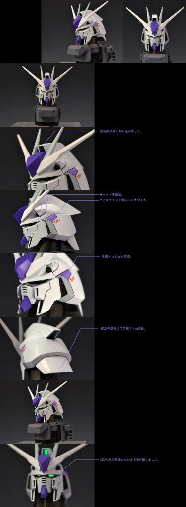 MG 1/100 Hi-νガンダム Ver.ka 制作工程1