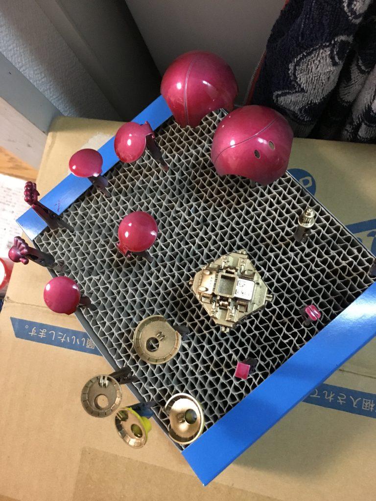 ハロ キャンディ塗装 レッド 制作工程2