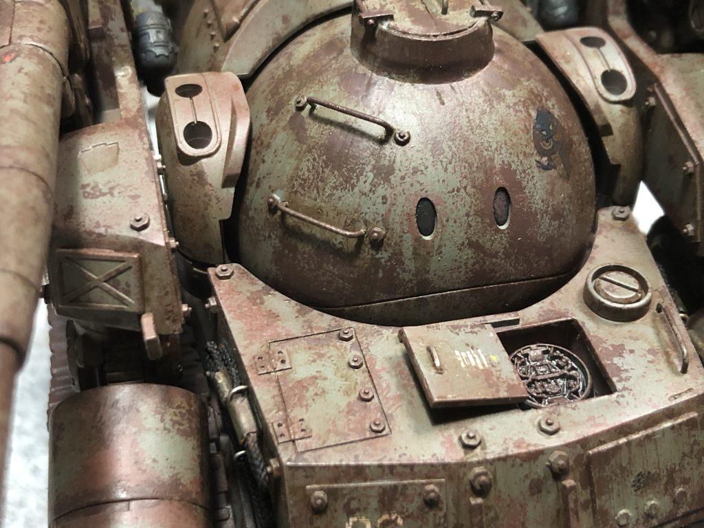 86式対MS特殊戦車 ジオラマ -postwar- 制作工程6