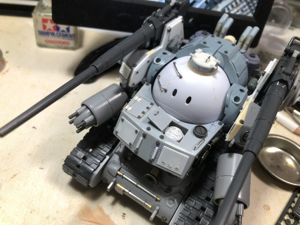 86式対MS特殊戦車 ジオラマ -postwar- 制作工程1