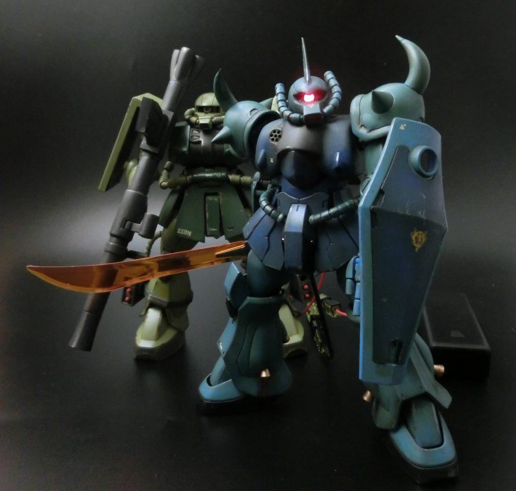 HGUC1/144  グフ THE ORIGIN ランバラル小隊