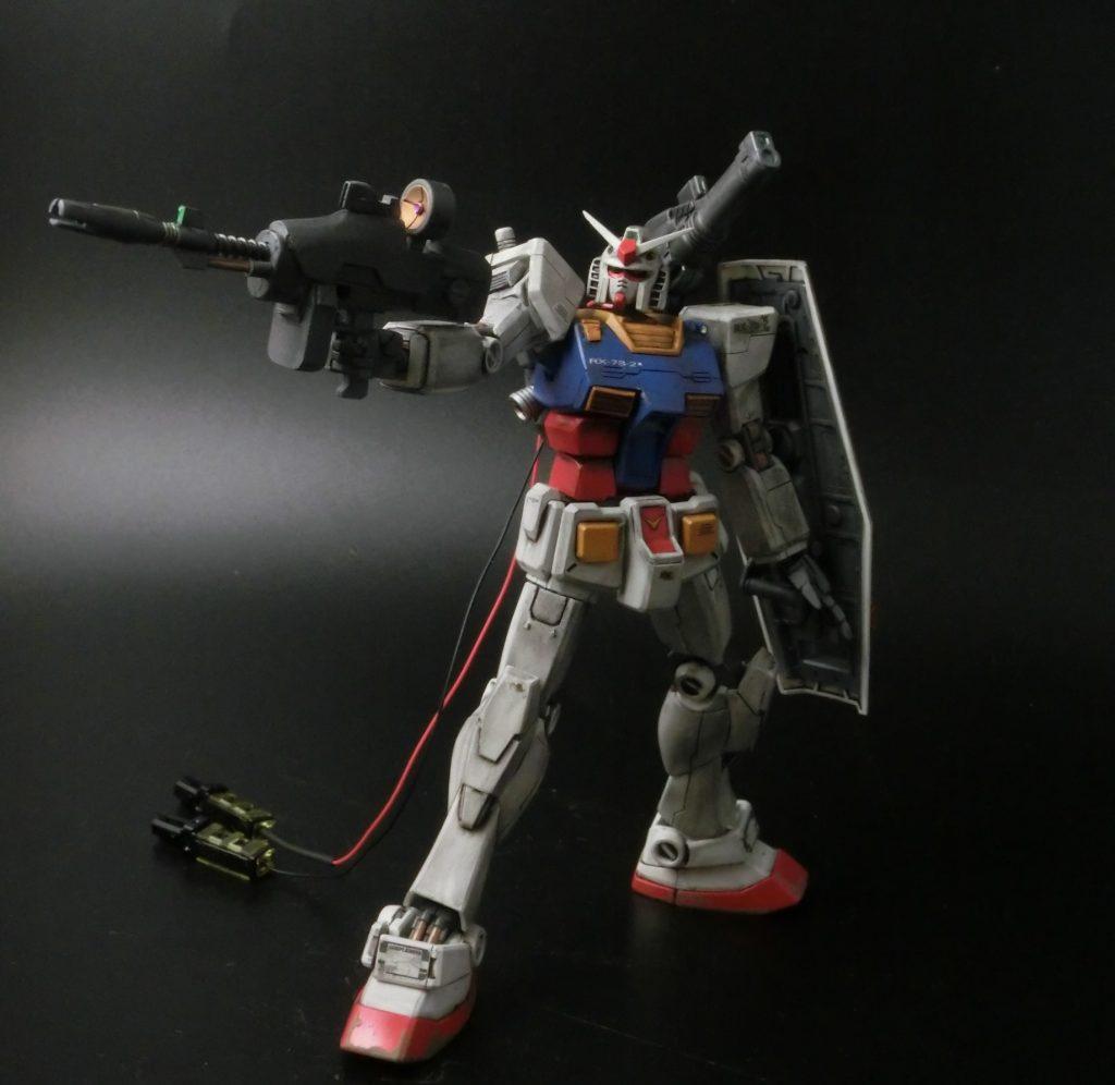 HGUC 1/144 RX-78-2 ガンダム THE ORIGIN アピールショット1