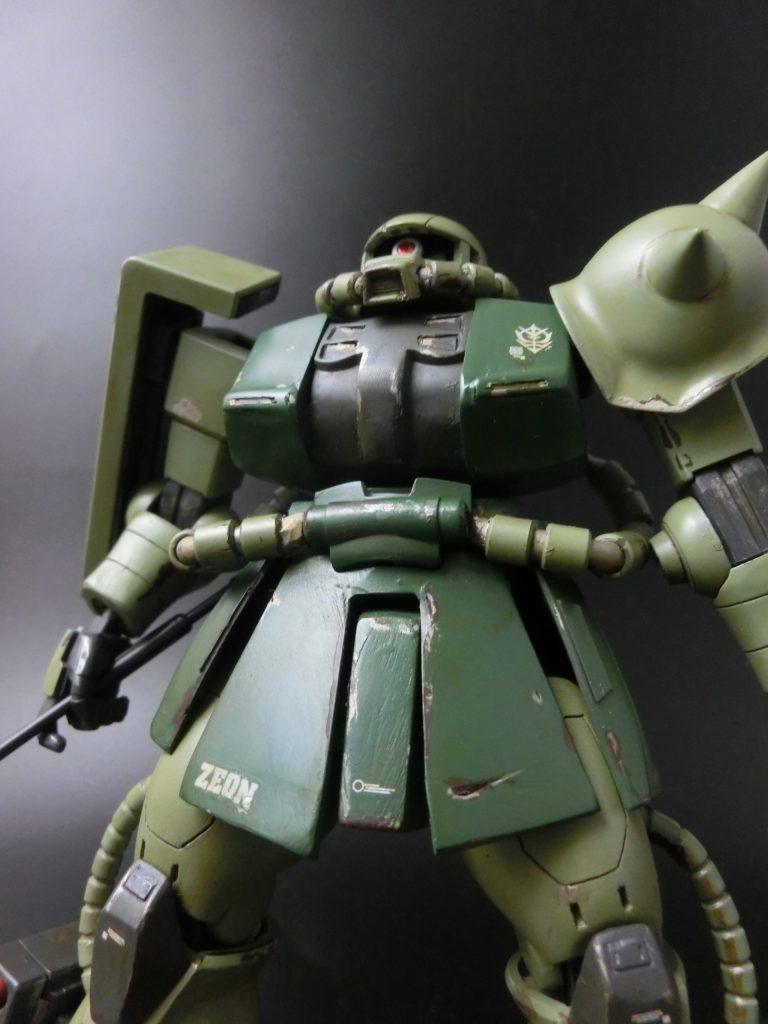 HGUC1/144 ザクⅡ THE ORIGIN ランバル小隊ステッチ機 制作工程4