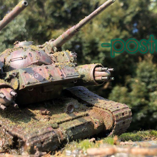 86式対MS特殊戦車 ジオラマ -postwar-