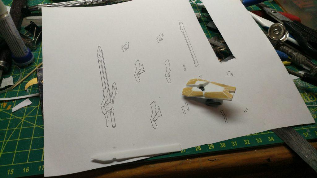 左手の盾,右手の剣 制作工程1