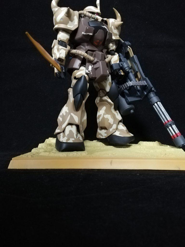 MG グフカスタム 砂漠迷彩 アピールショット3
