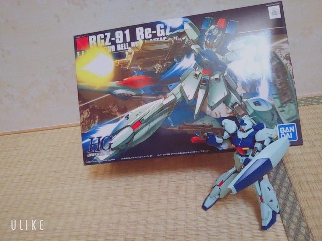 【5歳ガンプラ】HG RGZ-91 Re-GZ アピールショット1