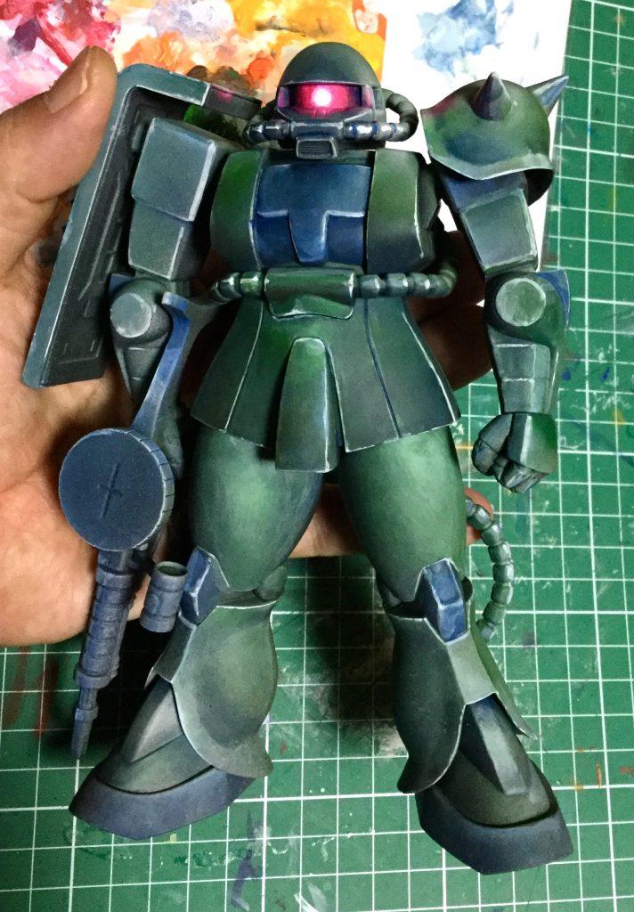 1/100量産型ザク  マキシマムモビルスーツ 制作工程4
