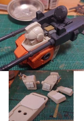 陸戦型ジム 火力支援型 制作工程1