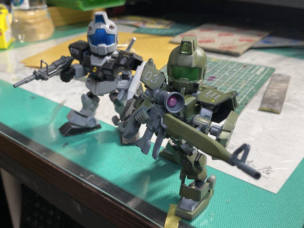 SD 陸戦型ジム アピールショット3