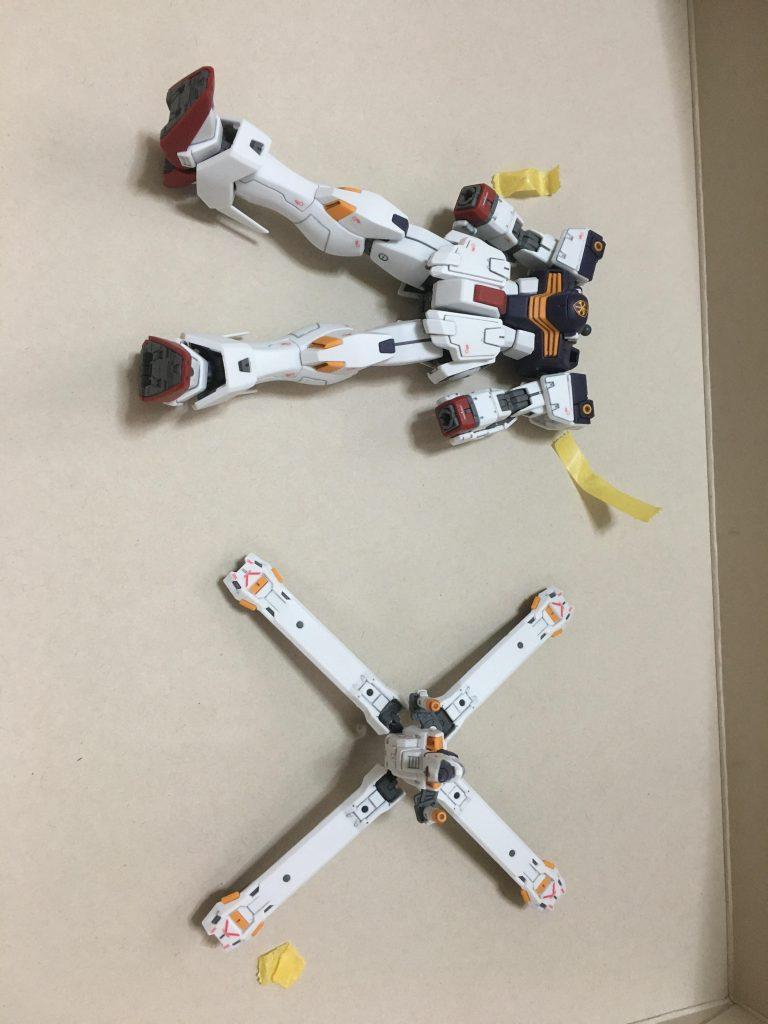 RG クロスボーンガンダムX1 制作工程2