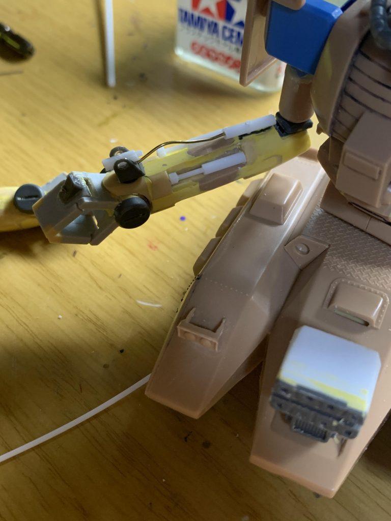 ザクタンク グリーンマカク 制作工程2