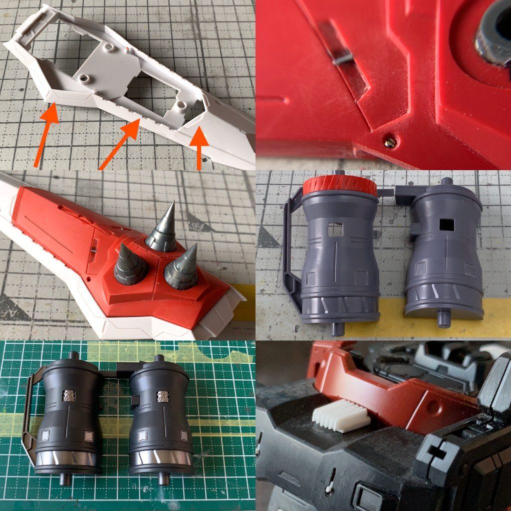 MG ガナーザクウォーリア 制作工程1